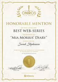 Honorable Mention Certificate Hi Guys We Just Received A Honorable Mention Award Here