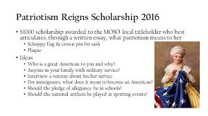 patriotism reigns scholarship the patriotism reigns scholarship  5 patriotism