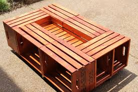 diy wooden crate coffee table woodworking plans