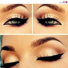 dramatic cat eyes colossal liner look