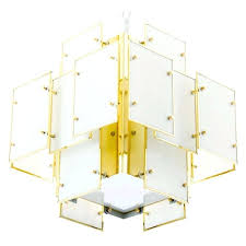 geometric milk glass panel chandelier for update id f triangular glass pane chandelier