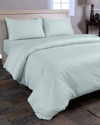 duck egg blue organic cotton duvet cover set 400 thread count
