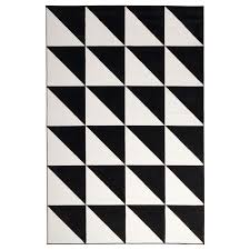 amazing sillerup rug low pile ikea black and white rug