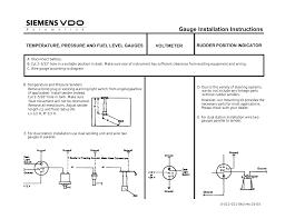 vdo fuel tank gauge operating instructions