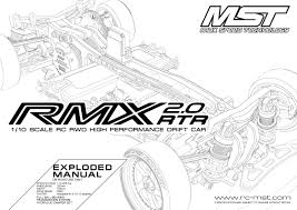 4 gears rmx 2 0 rtr exploded manual max speed technology supportdrift ins rh rc mst