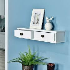 welland floating shelf with drawers