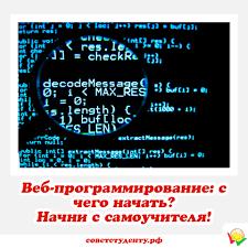 Веб программирование с чего начать Начни с самоучителя  Самоучитель для начинающих по веб программированию