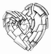 Pencil Art Love Wallpapers - 3d Broken ...