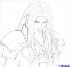 How To Draw Fantasy Anime Step 7 How To Draw Sephiroth Final