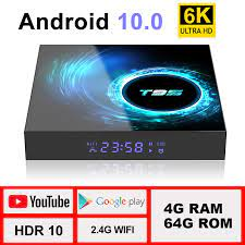 TV Box Android 10.0 4G 64G Support 6K 3D YouTube Google Play Google Voice  Assistant LEMFO T95 H616 Smart Set Top Box|Set-top Boxes
