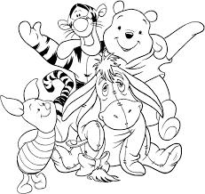Disegno Di Winnie The Pooh E I Suoi Amici Da Colorare