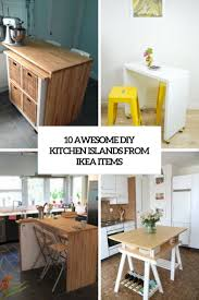 diy kitchen furniture. Awesome Diy Kitchen Islands From Ikea Items Cover Furniture