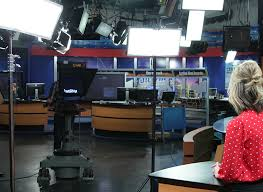 flex cine kit lighting in broadcast news studio