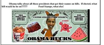 obama fried chicken watermelon. Brilliant Fried U201cUnited States Food Stampsu201d Which Were Sent Out By A Republican  Womenu0027s Club With Photo Of Obama Surrounded Fried Chicken Watermelon And Ribs With Fried Chicken Watermelon I