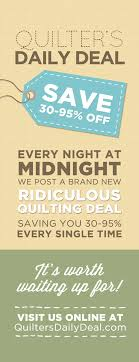 The Quilter's Daily Deal from the Missouri Star Quilt Company ... & The Quilter's Daily Deal from the Missouri Star Quilt Company! Every night  at midnight, Adamdwight.com