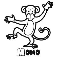 Monitos Tiernos Para Colorear Dibujos Para Colorear De Animales De La Selva