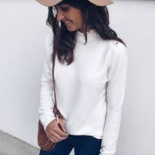 <b>Fashion</b> Women <b>Autumn</b> Winter Solid Color <b>Knitted Sweater</b> Lace ...