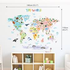 large world map wall decal com at 9