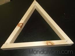 diy wooden triangle shelves staple corners