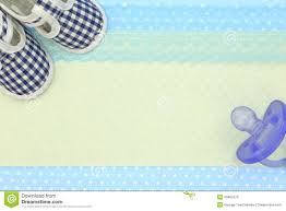 Baptismal Design Background Baby Shoes And Blue Pacifier Stock Image Image Of