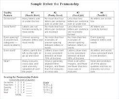 Rubric Template Microsoft Word Scoring Rubric Template Scholarship Writing Assessment