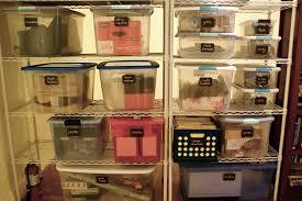 basement storage organization using chalkboard labels via the thinking closet