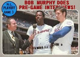 Bob Murphy interviewing Hank Aaron & TOM SEAVER. | National league,  Baseball cards, Mets baseball