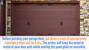 painting your garage door what you need to know