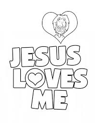 Small Picture Jesus Love Me Sticker Coloring Page Color Luna