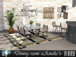 Aifirsa Sims: Diningroom Amelia • Sims 4 Downloads | Sims, Sims 4, Sims 4  houses