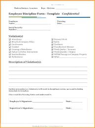 employee discipline template verbal warning form template formal written employee free