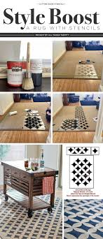 cutting edge stencils shares how to diy a stenciled rug using the nagoya stencil and bb