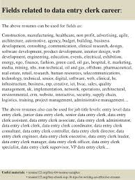 16 fields related to data entry resume for data entry