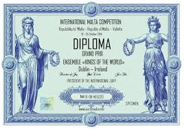 Дистанционные конкурсы заочный конкурс всероссийские  Диплом № 18 образец Франция