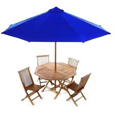 outdoor table set with umbrella 6 piece folding set this beautiful set includes or teak folding table umbrella and 4 teak folding chairs cushions available