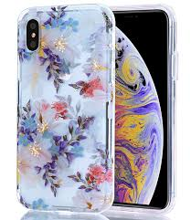 Fusion Floral Design Basrke Case For Iphone Xs Max Clear Case With Floral Fusion Case Hard Clear Pc Back Soft Tpu Bumper Raised Edge Drop Protection Cover For Iphone Xs