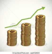 Trending Graph Revenue Growth Increasing Graph Money Trending Icon