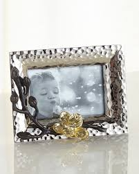 gold orchid mini picture frame