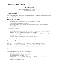 Functional Resume Example Templates At