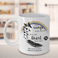 cat memorial gifts your wings were ready but my heart was not cat paw prints forever on my heart cat bereavement remembrance gifts