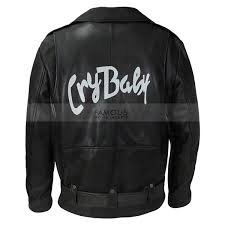 cry baby johnny depp motorcycle leather jacket