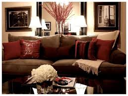brown and red living room decorating ideas. See More. My Living Room  decorated at Christmas. Love the sparkly pillows on my couch. Have