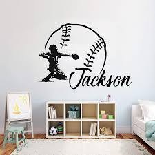 Sports Decals Wall Art Decor Personilized Baseball Sports Decor