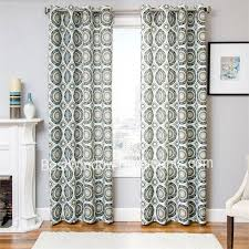 nisa curtain panel available in 2 colors teal turquoise blue brown and orange