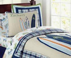 New Pottery Barn Kids Surfboards North Shore Blue Twin Quilt Sham ... & New Pottery Barn Kids Surfboards North Shore Blue Twin Quilt Sham Boys Surf  | eBay Adamdwight.com