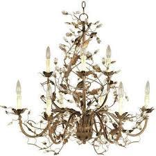 elegante 9 light etruscan gold chandelier