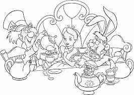 Small Picture Alice In Wonderland Coloring Pages fablesfromthefriendscom