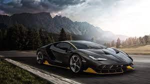 Lamborghini Aventador 1080p Black Car ...