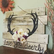 love you deerly wood pallet sign