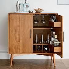 Mid-Century Danish Modern Walnut Refrigerated Bar Cabinet 1